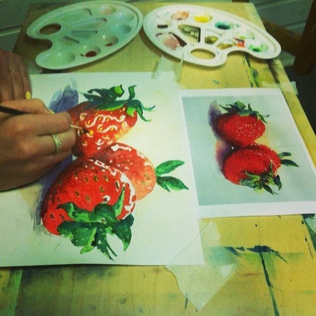 уроки рисования, мастер-класс акварель