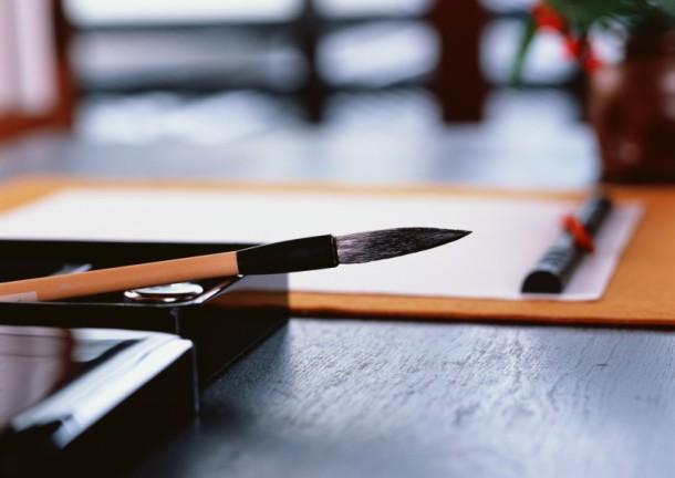 Японская живопись тушью мастер класс + видео #2