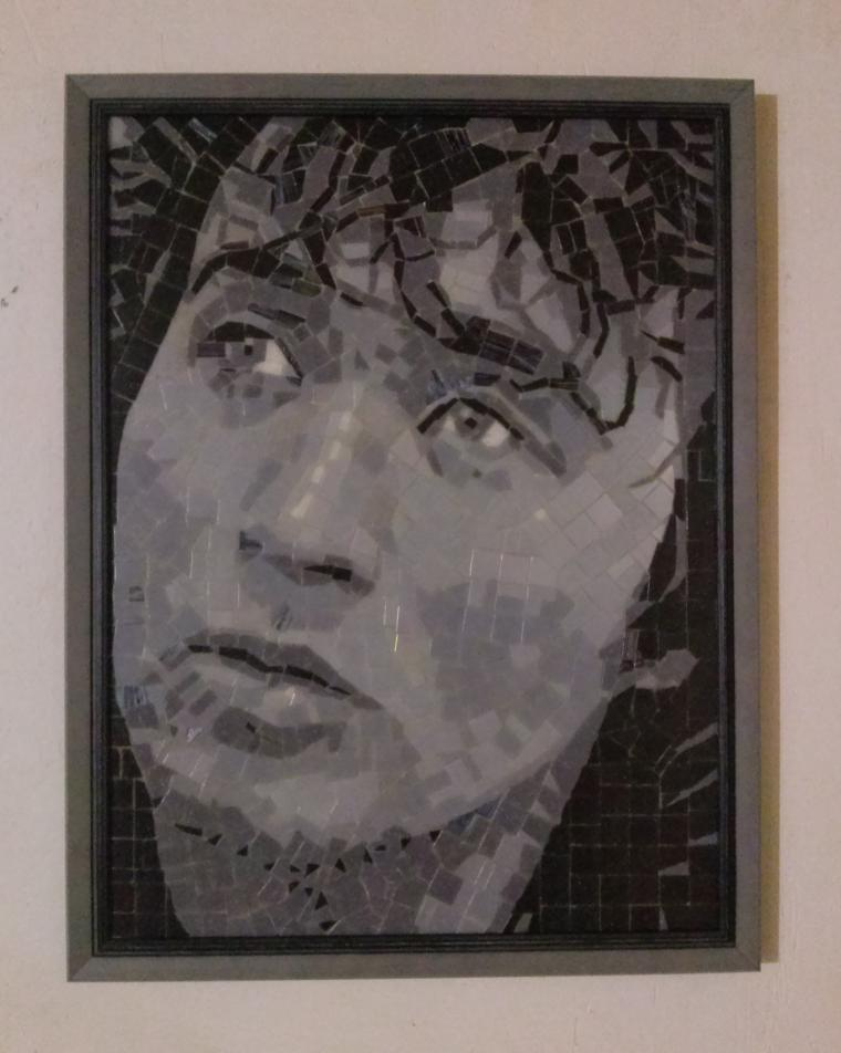 мозаичный портрет, единоборства, design, дизайн интерьера, цой