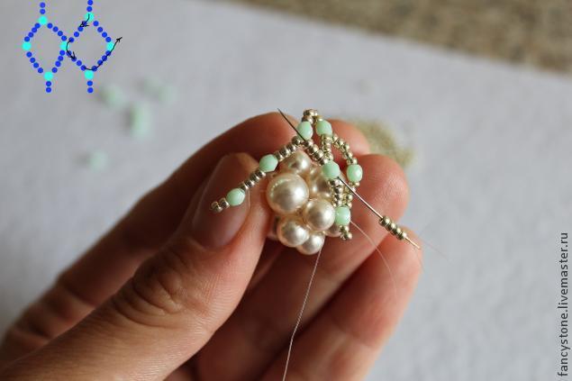 Схема плетеная бусина
