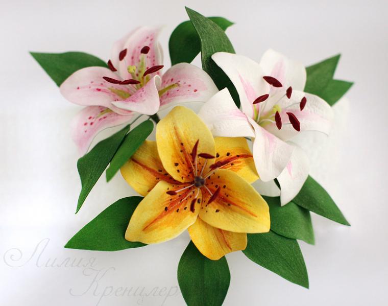 мастер-класс, гортензия, пластичная замша, цветы своими руками