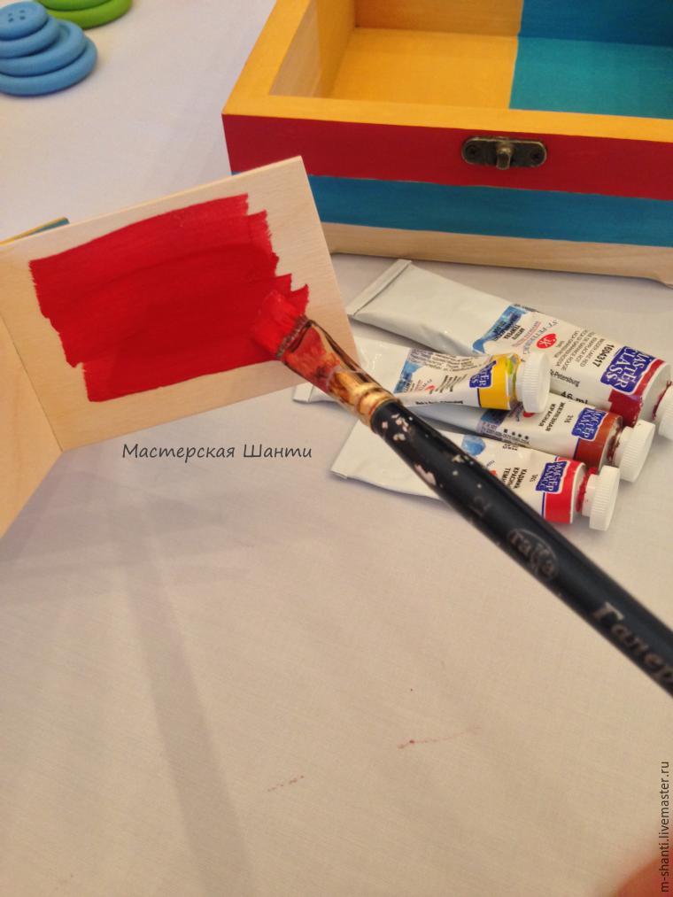 Расписываем яркую шкатулку-развивайку для детей, фото № 14