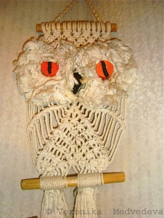 плетёная сова, совёнок