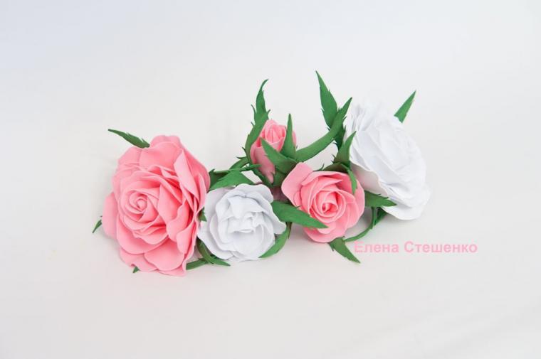 розы ручной работы, видео