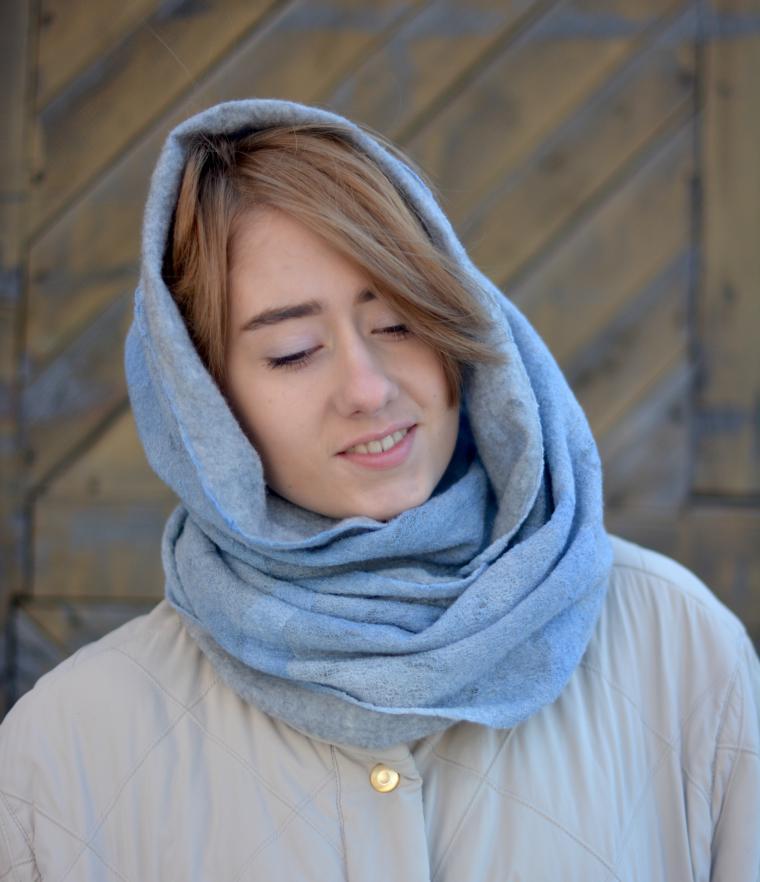 как свалять шарф, клара ру