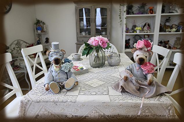мишки тедди, кукла из полимерной глины, мастер-класс
