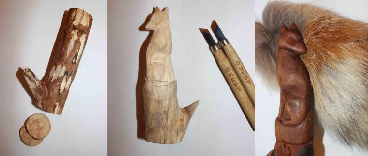 Как сделать тотем из дерева
