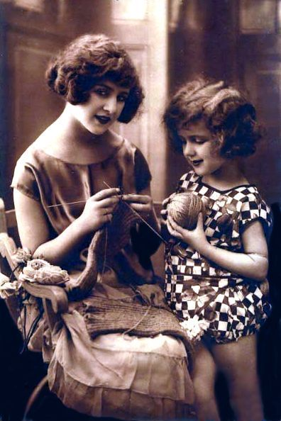 Lots of old knitting images: <a href=