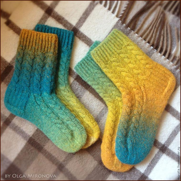 """Мастер-класс: """"Вязаные и подваляные носочки"""" - Ярмарка Мастеров - ручная работа, handmade"""