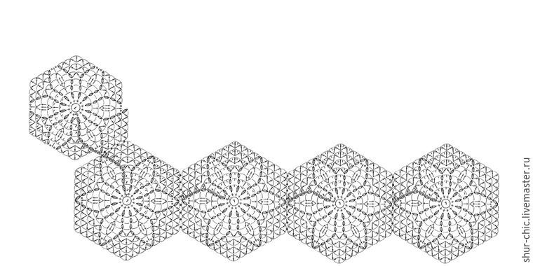 俄网的钩针基础教程(三十四):如何用一线连钩编六角花织物(大师班) - maomao - 我随心动