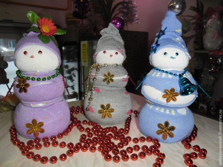 Снеговик детский.  Автор мк AnikeyevaNatali