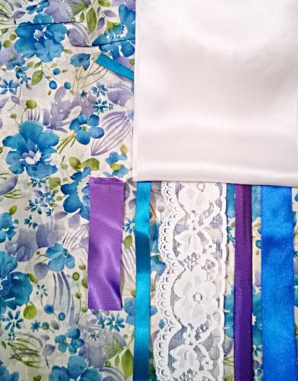белье, ночное белье, прованс, бирюза, бирюзовый, голубой, голубые цветы, цветы, цветочки, расцветка цветы