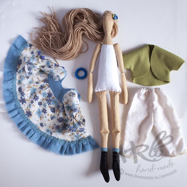 кукла тильда, блондинка, подарок для девочки, интерьерная кукла, кукла в голубом платье, куклы в красноярске, купить куклу, купить подарок, сувениры и подарки