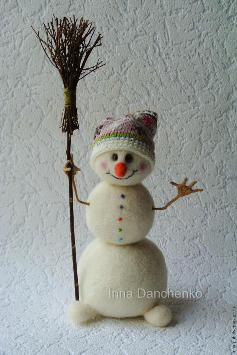 Снеговик из меха своими руками фото 298