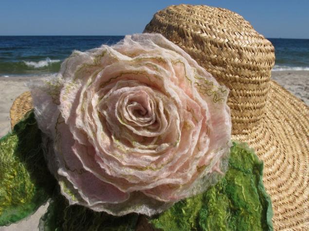 цветок-брошь, украшение на руку