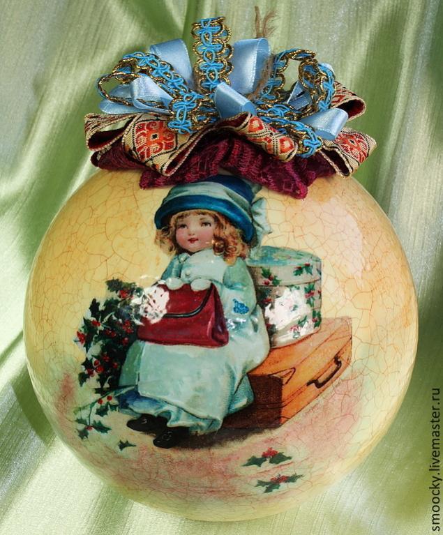 конкурс новый год 2014, лучший подарок, елочный шар, оригинальный подарок, елочная игрушка декупаж, новогодний мастер-класс, елка 2013