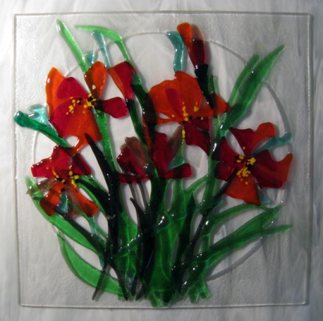 панно, цветы