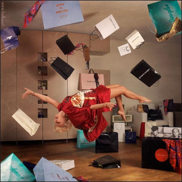 Как в фотошопе сделать летающие предметы