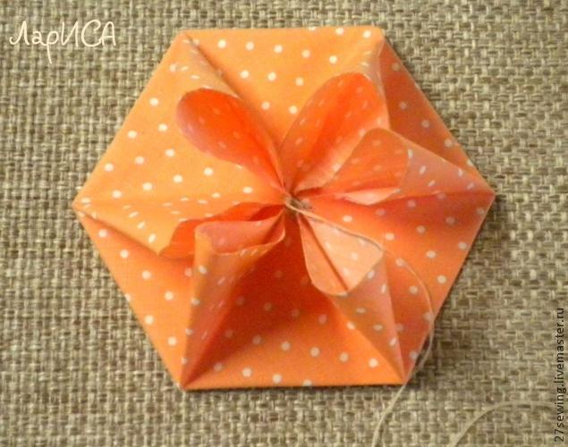 цветок из шестиугольника
