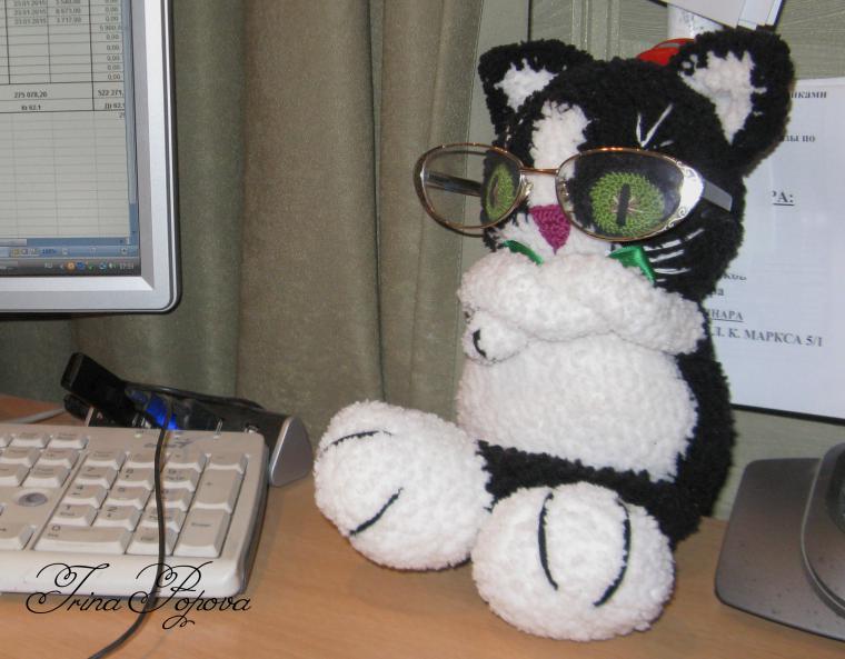 вязаный кот