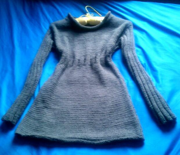 платье для девочки, акция, воротничок, вязание, вязанное платье, подарок, одежда, свитер, кофта, спицами, авторская работа, скидка, зима