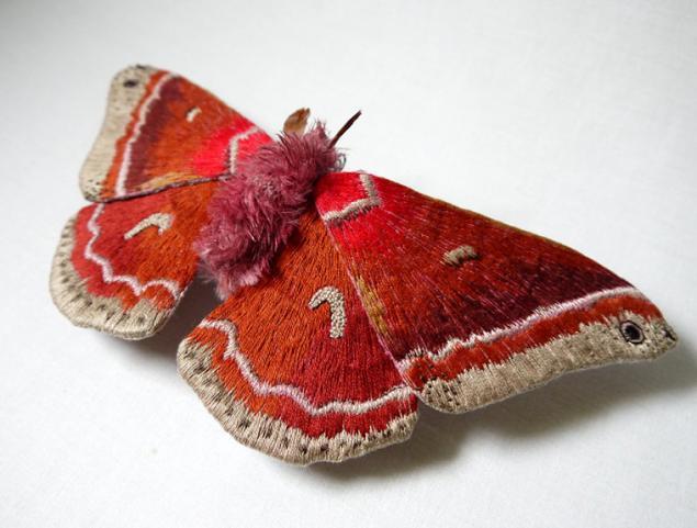Дивные текстильные насекомые от мастера Yumi Okita, фото № 14