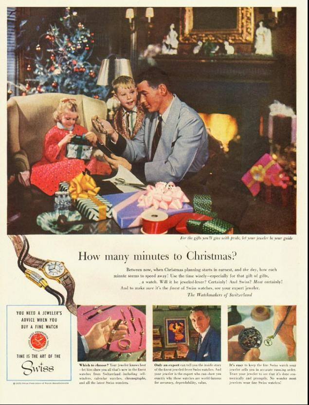 Новогодняя реклама Vintage/1951 -1956 включительно, фото № 27