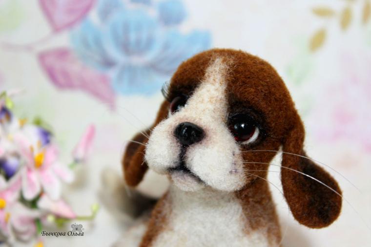 щенок, игрушка собака, игрушки из войлока