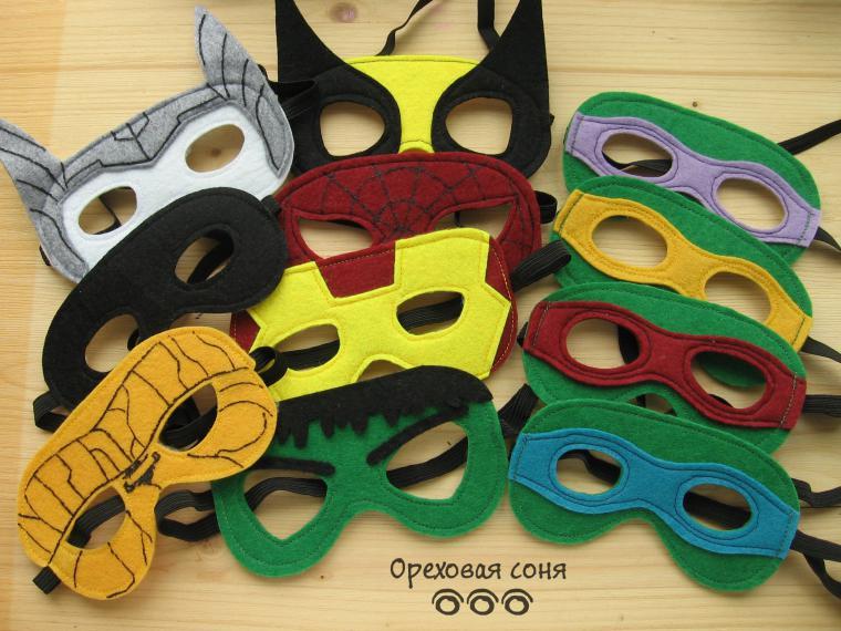 Детская маска супергероя своими руками