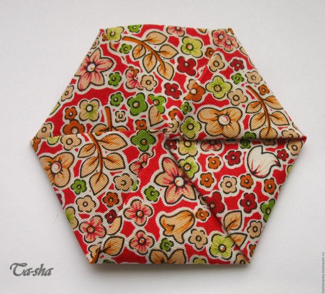brooch from fabric