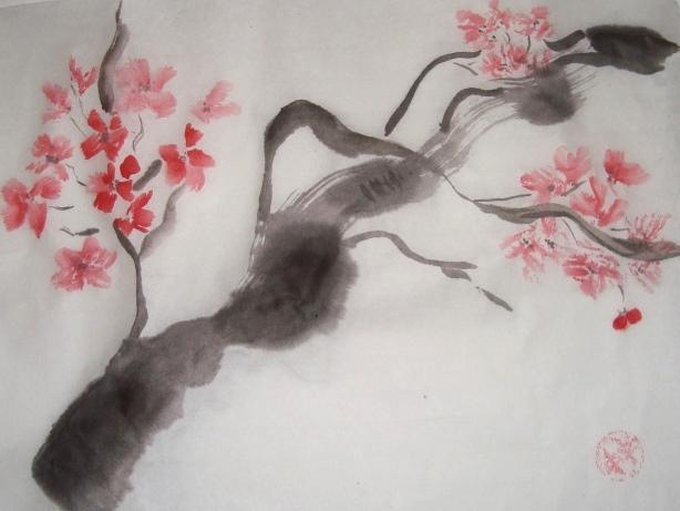 китайская акварель, китайское искусство, чайная церемония