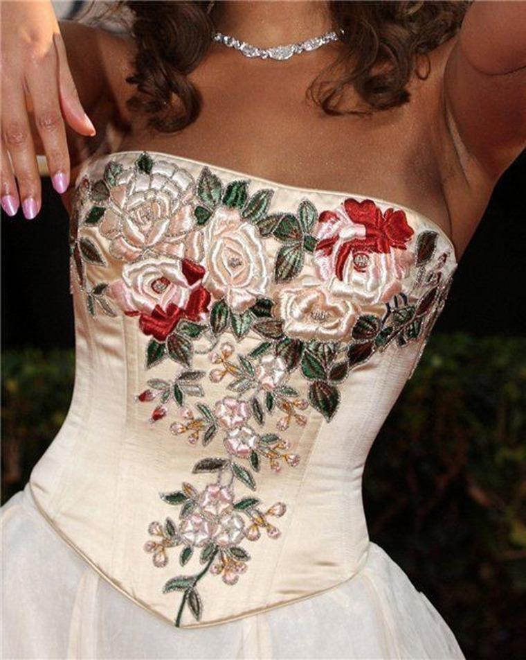 Идеи вышивки на платье