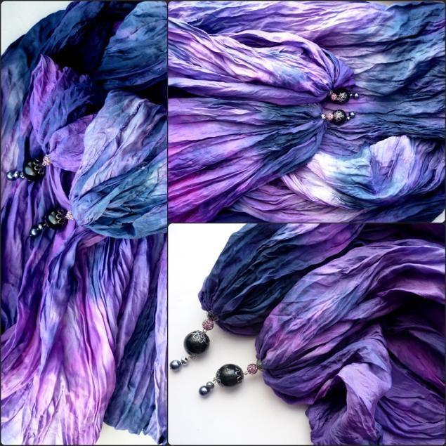 натуральный шелк, фиолетовый