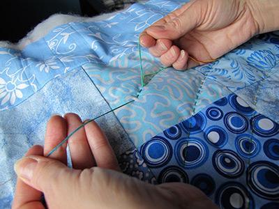 Стежка одеяла вручную мастер класс