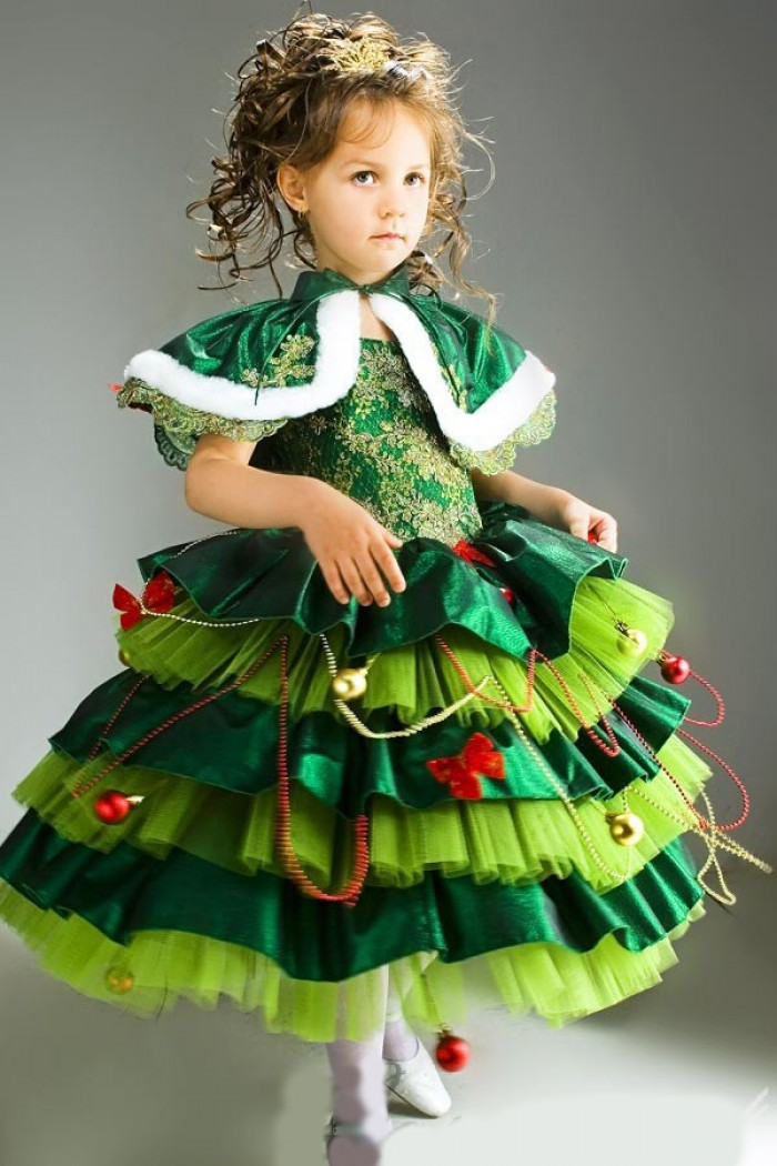 Костюм елки для девочки своими руками