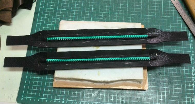 Как сделать ручки для сумки из кожи 976