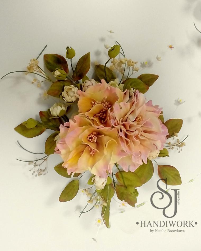 фоамиран, обучение цветоделию, декор интерьера, цветы из фоамирана, декор дома, ревелюр