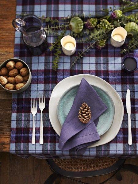 love this lavender tartan