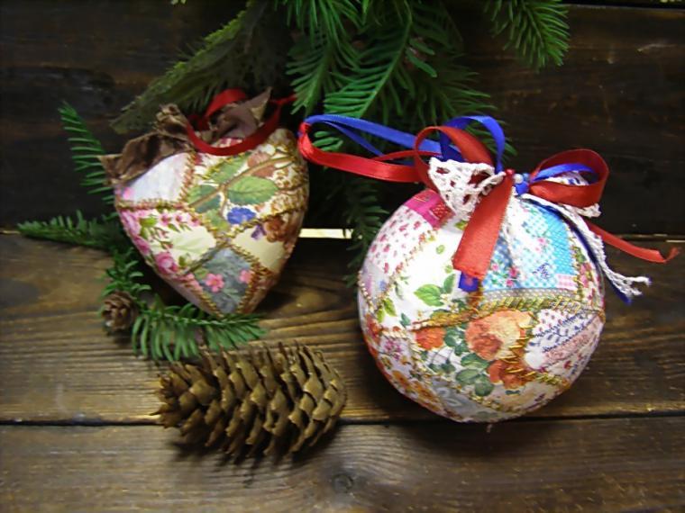 Новогодние шары из папье маше своими руками фото 115