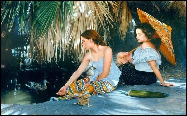 Фото и живопись Даффи Шеридана. *Сестры*