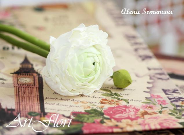 мастер класс, цветы, фоам, цветы из фоамирана, ранункулюс