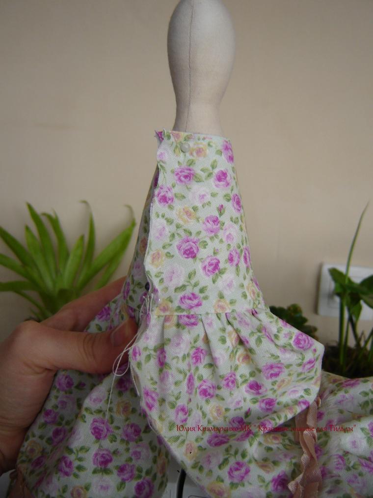 Красивое платье для тильды мастер класс