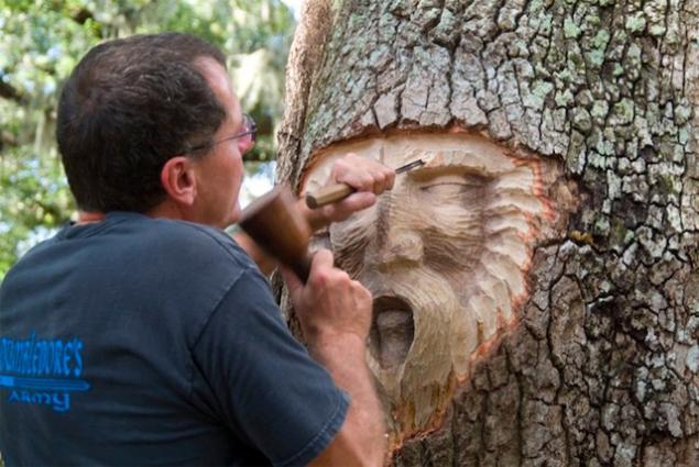 дерево, современное искусство