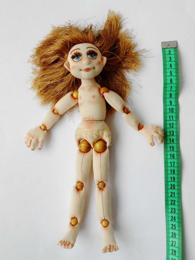 Шарнирная кукла из текстиля своими руками