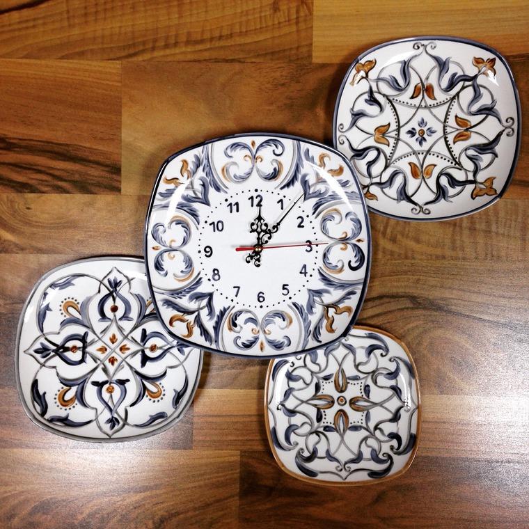 Декорирование стен тарелками, фото № 41