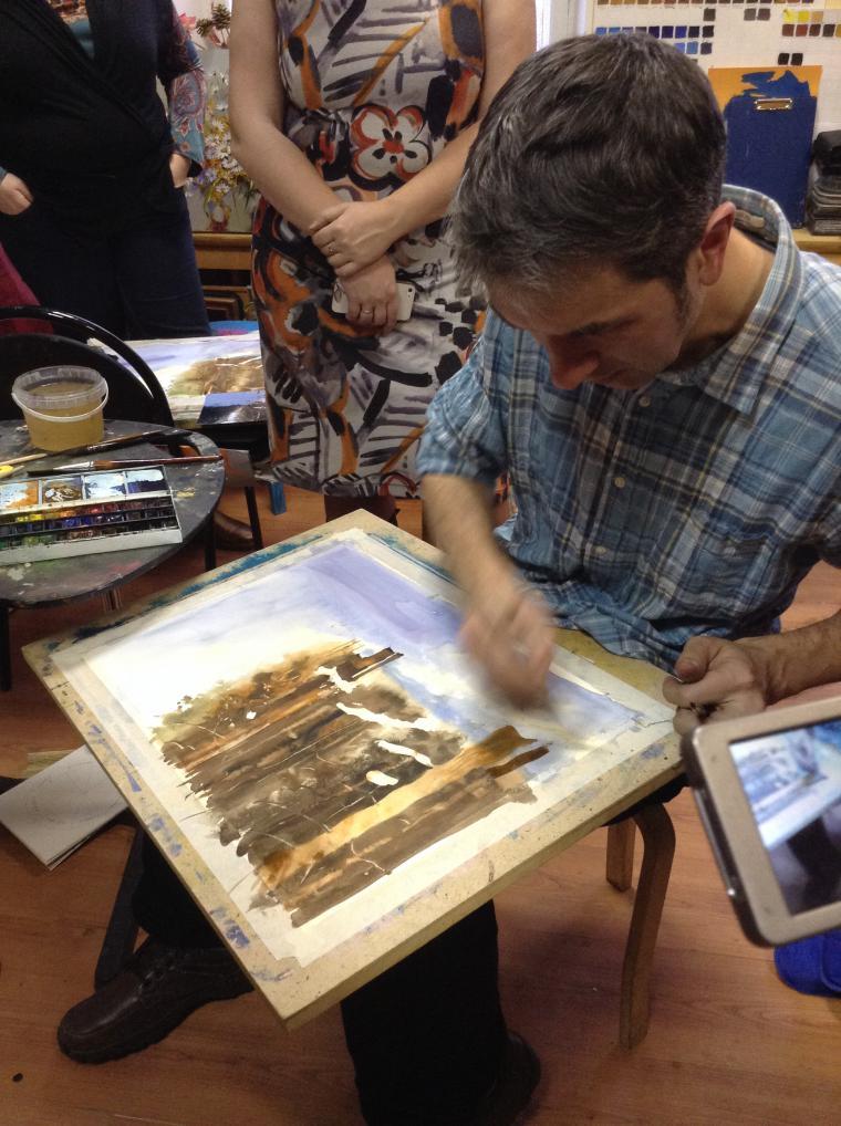 акварельная живопись, уроки рисования