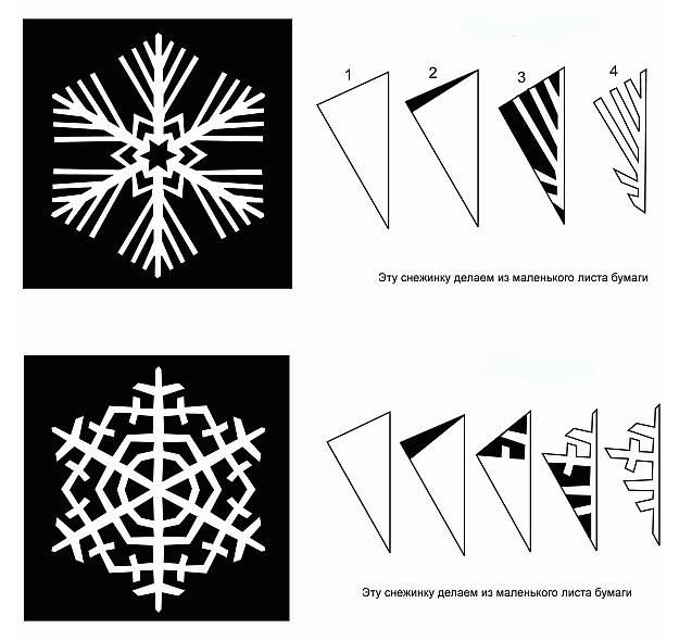 Красивые шаблоны снежинок из бумаги