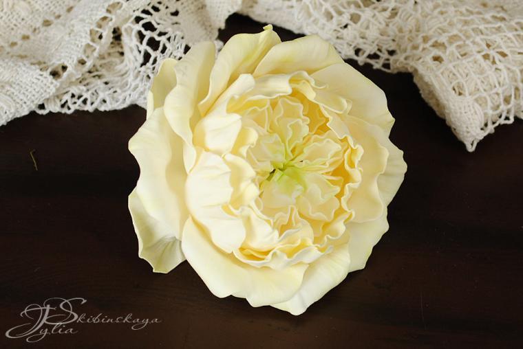 мастер-класс по цветам, роза из фоамирана