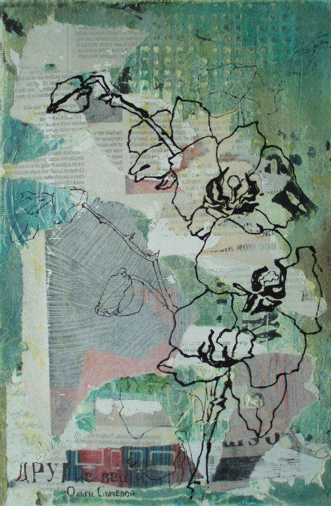 орхидея, холст, рисунок, графика
