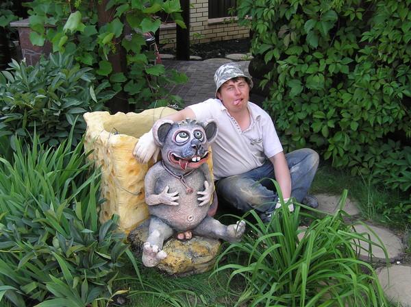 Садовые скульптуры из бетона мастер класс